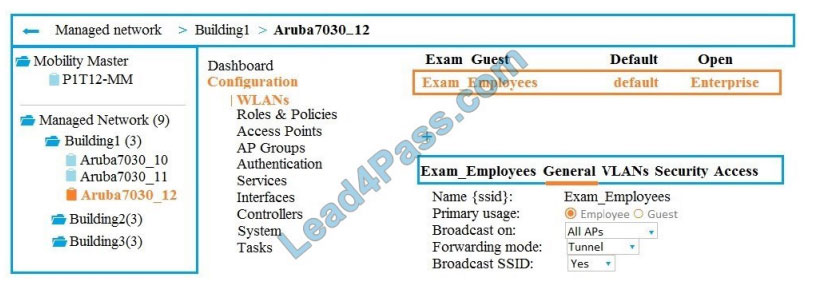 lead4pass hpe6-a70 exam questions q3-1